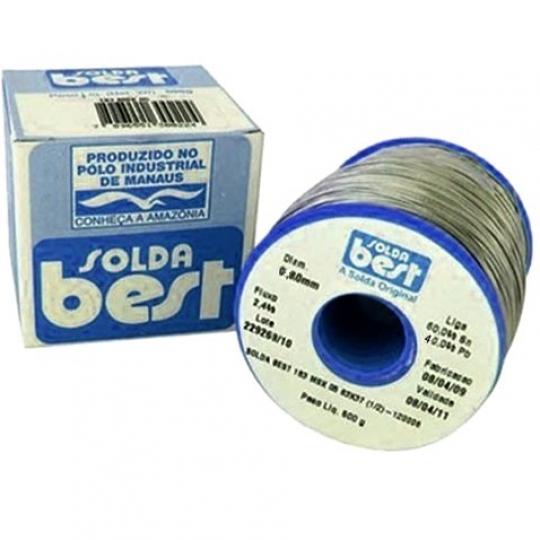 ROLO CARRETEL SOLDA **BEST** 500 Gramas 0,8mm - Sn60% Pb40% - 189MSX08