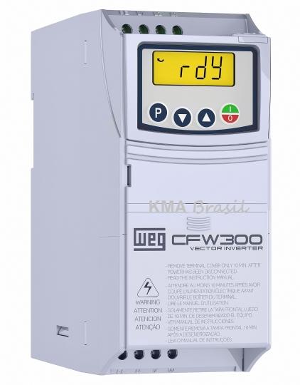 INVERSOR DE FREQUÊNCIA CFW300 1CV - ENT: MONO 127V - SAÍDA: TRIFÁSICO 220V - WEG 13059268