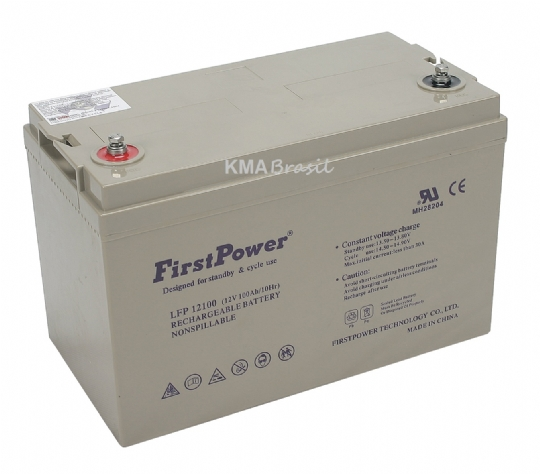 BATERIA SELADA 12V 100AH FIRST POWER LFP12100