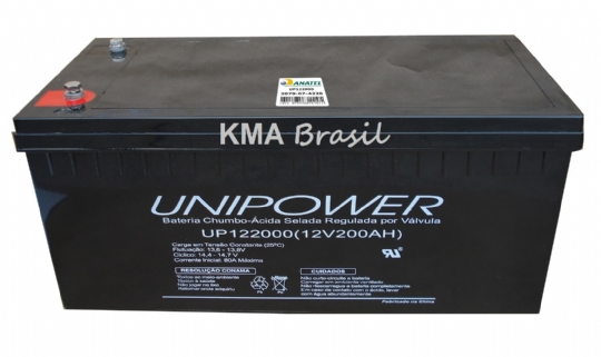 BATERIA SELADA 12V 200AH UNIPOWER UP122000