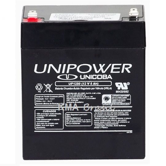 BATERIA SELADA 12V 5AH UNIPOWER UP1250