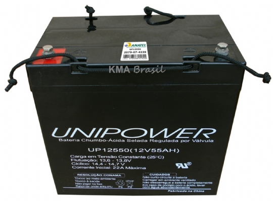 BATERIA SELADA 12V 55AH UNIPOWER UP12550