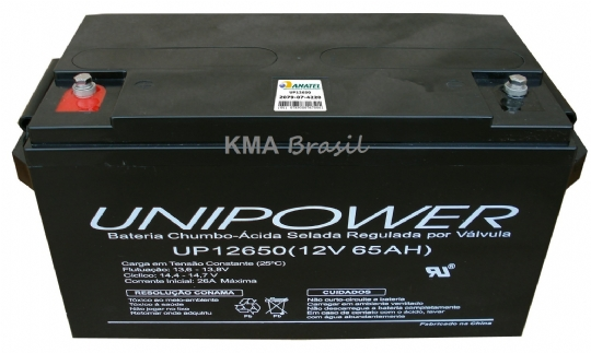 BATERIA SELADA 12V 65AH UNIPOWER UP12650