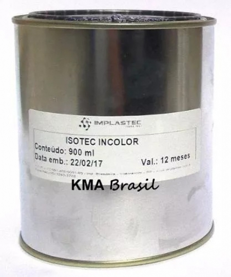VERNIZ INCOLOR ISOLANTE ISOTEC LÍQUIDO 900ml IMPLASTEC