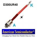 D300UR40 - DIODO FREQUÊNCIA DE REDE 300A 400V - AMERICAN SEMICONDUCTOR INC.