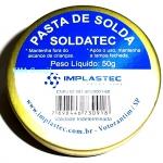 PASTA DE SOLDA - FLUXO EM PASTA SOLDATEC 50g IMPLASTEC