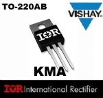 02 Pe�as IRF1407 TRANSISTOR MOSFET TO-220AB - 75V 130/92A
