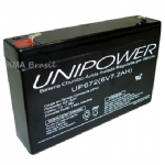 BATERIA SELADA 6V 7,2Ah UNIPOWER UP672