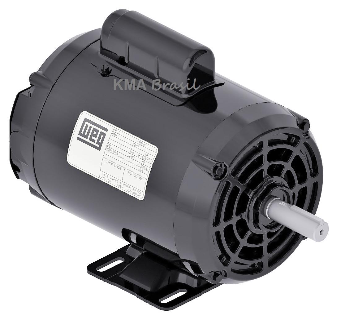 Motor monof sico para uso geral 0 5cv 4 polos 127 220v weg for Motor piscina 0 5 cv