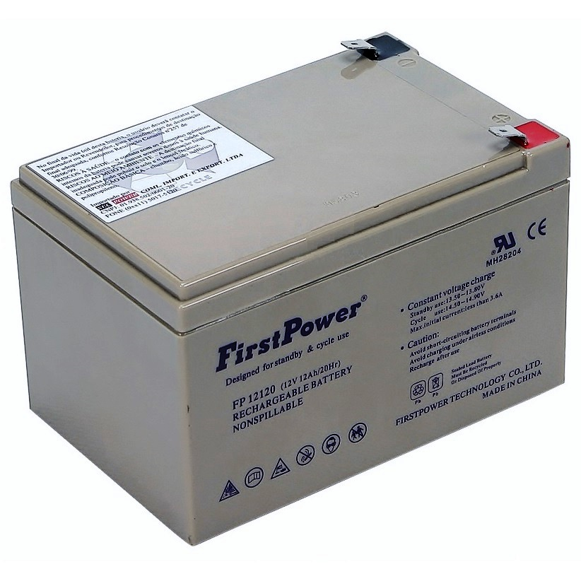 bateria selada 12v 12ah first power fp12120 kma brasil