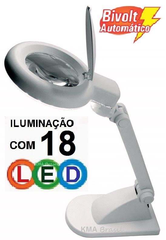 421860778af5e LUPA DE MESA COM ILUMINAÇÃO POR 18 LED -AUMENTA 3 VEZES ou 12 VEZES (.  Carregando imagem!